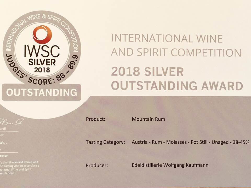 Auszeichnung international wine and spirit competition in silber 2018 960x720